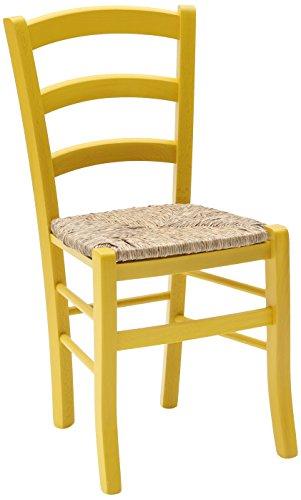 Fashion commerce 02-fc310g set di sedie, legno, giallo, 42x43x88 cm, 2 unità