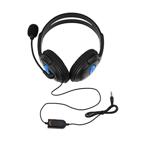 GoodFaith Gaming-Headset, kabelgebundene Kopfhörer, Gaming-Headset, Controller, Geräuschunterdrückung, Over-Ear-Kopfhörer mit Mikrofon für PS4