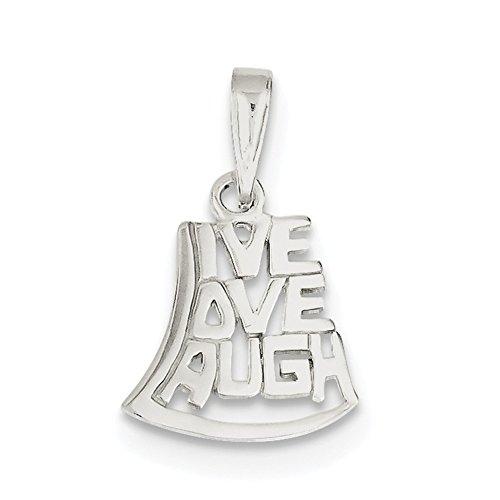 Sterling Silber Live, Love, Laugh Anhänger qc3751 Live-kundenservice