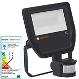LEDVANCE 20W LED Fluter IP65 Strahler Flutlicht Bewegungsmelder schwarz Farbtemperatur 3000K warmweiß