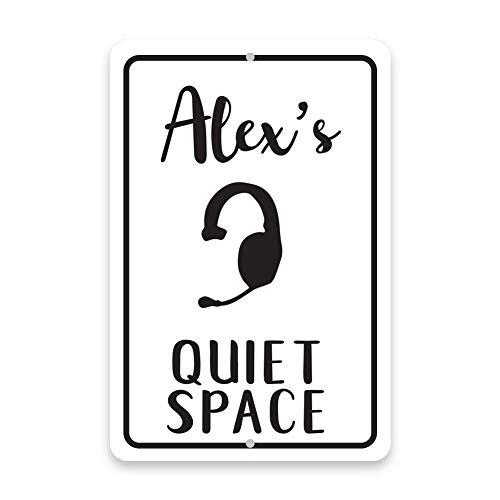 Stage Manager's Quiet Space Custom Aluminium Schild Home Room Door Wall Garage Dekoratives Metallschild 30 x 45 cm