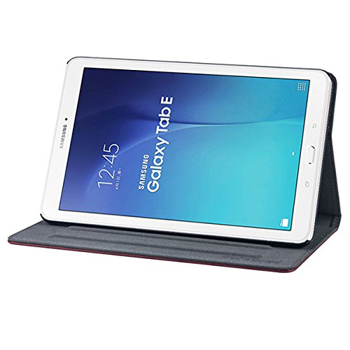 Gecko Covers - Samsung Galaxy Tab E 9.6 Hülle Easy-click - Braun - Multifunktionelle Tasche bietet Schutz und Multimedia-Komfort / Cover mit Präsentationsfunktion - Tablethülle geeignet für Samsung Galaxy Tab A 10.1 Zoll - Multimedia-tasche