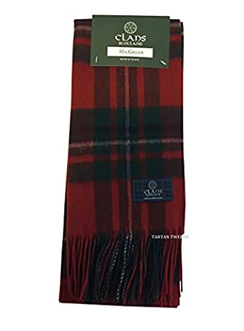 Tartan Clan Scarf 100% Wool In Various Colours (MacGregor Modern)