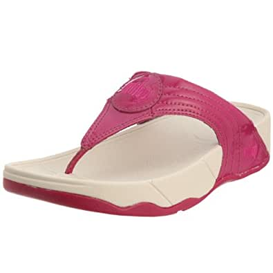 FitFlop Women's FITFLOP WALKSTAR III Thong Sandals Grey grey  Pink Size: 3.5