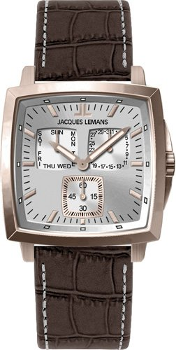 Jacques Lemans Milano 1-1474E Gents Brown Leather Strap Watch