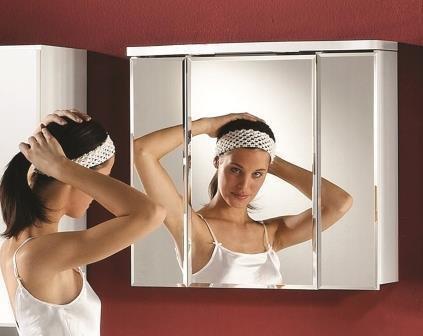 Spiegelschrank Como hochglanz weiss - 67 cm