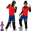 Atosa-10524 Disfraz Futbolista, Color Rojo, M-L (10524)