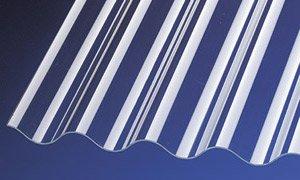 PVC Wellplatten Profilplatten Sinus 76/18 klar ohne Struktur 2000 x 900 mm