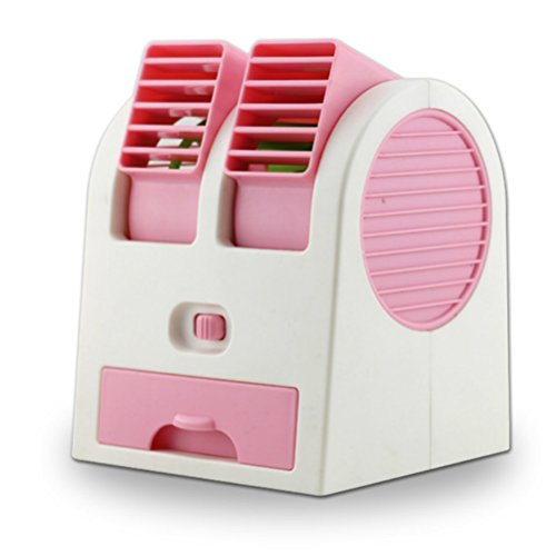 Portable USB ultra silencieux sans ventilateur climatiseur Mini Air Conditioner rose clair