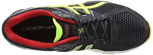 Asics Gt-1000 3, Scarpe Sportive, Uomo Onyx / Flash Jaune / Rouge 9907