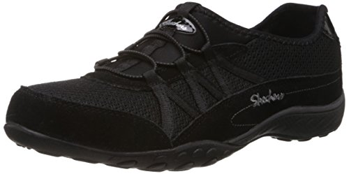 Skechers USA  Breathe-Easy - Relaxation, Baskets basses femme Noir (Black)