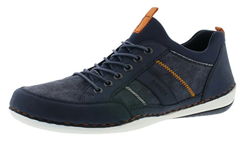 Rieker B9265 Herren Sneaker, Schnürschuhe, Halbschuhe, Schnürer blau (Navy/Navy/Navy / 15), EU 46 Blaue Herren Halbschuhe