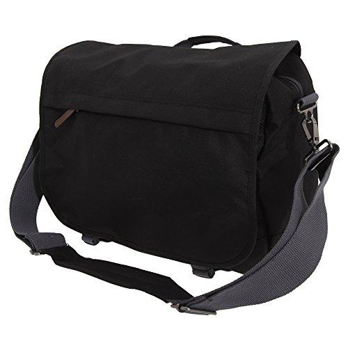 Bagbase - Campus - Borsa Messenger Imbottita Laptop Compatibile (Taglia unica) (Nero)