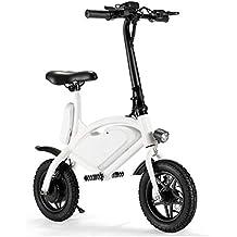 Bicicleta Eléctrica Plegable del Adulto 12 Pulgadas, Batería De Litio De 36V 250W para Los