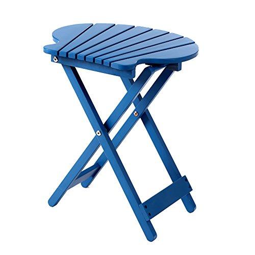 Table pliante réglable Table d'ordinateur Portable/Table à Manger Unique/Table de Fleur de Balcon/Table Multifonctions / 40 * 20 * 43CM Peut être tourné (Couleur : Bleu)