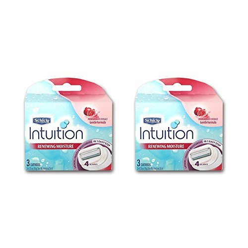 Schick New Intuition Razor Refill Cartridge Pomegranate 6 Blade -