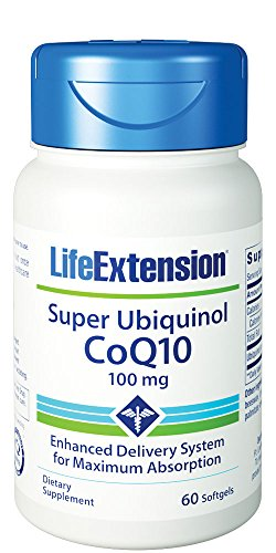 Life Extension, Super Ubiquinol CoQ10, 100mg, 60 Weichkapseln