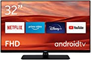 Nokia Smart TV 3200A 32 Zoll (80 cm) LED Fernseher (Full HD, Dolby Audio, HDR10, Sprachassistent, Triple Tuner