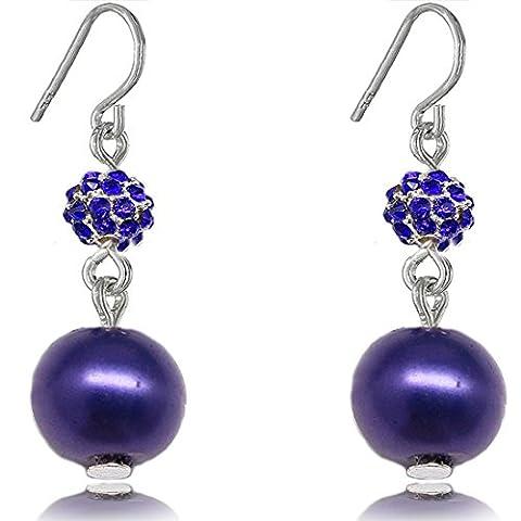 Boucles d'oreilles Fashion avec le cadeau de la mère de boule de feu simulé perle 8MM