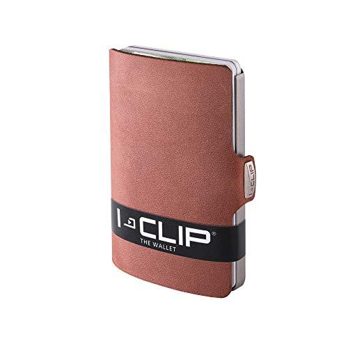 I-CLIP ® Geldbörse Soft-Touch Oak, Metallic-Grey (In 9 Varianten Erhältlich) -