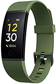 Realme Band (Green) - Full Colour Screen with Touchkey, Real-time Heart Rate Monitor, in-Built USB Charging, I