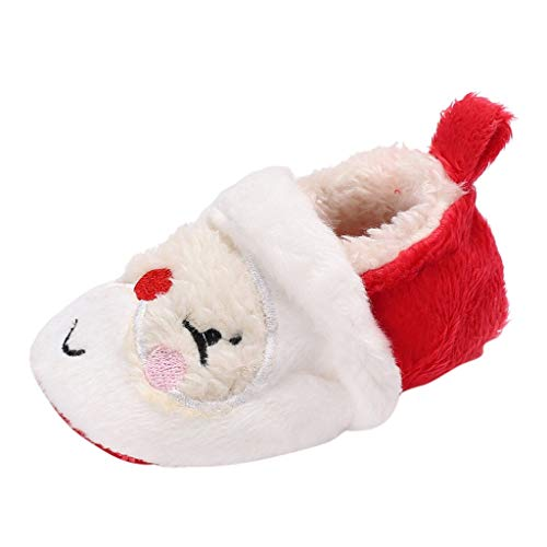 HDUFGJ Kinderschuhe Weihnachten Kleinkind Kind Baby Mädchen Jungen Winter Warme Schneeschuhe Bootie Schuhe Kurze Stiefel Kinderschuhe Fliegendes Weben Kinderschuhe Freizeitschuhe