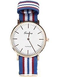 d9942090a6e9 Reloj Geneva NATO de Moda de Tela Militar My-Reloj