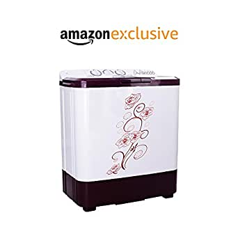 Noble Skiodo 6.8 kg Semi-Automatic Top Loading Washing Machine (68WMVM Twin Tub Eco Wash, Burgundy and Grey)