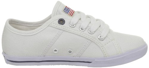 US Polo Assn Bange2, Baskets mode mixte enfant Blanc (White)