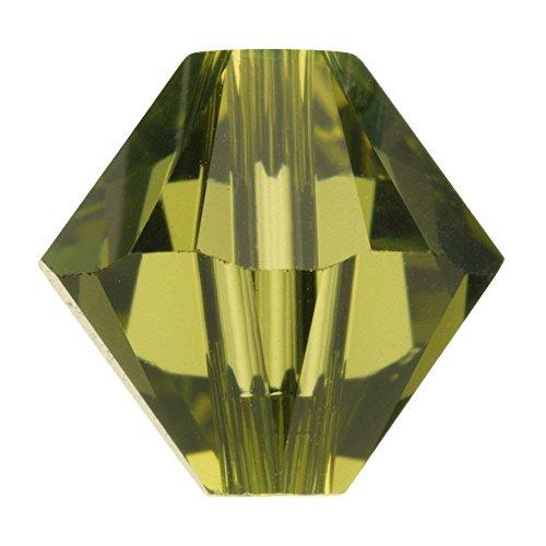 n, 6 mm, Doppelkegel, Xillion-Schliff, Khaki, 10 Stück ()