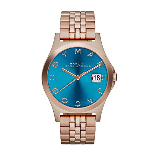 Marc by Marc Jacobs MBM3318 Mens Turquoise Rose Gold The Slim Watch