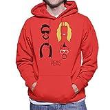 Photo de Black Eyed Peas Music Icon Silhouette Men's Hooded Sweatshirt par Cloud City 7