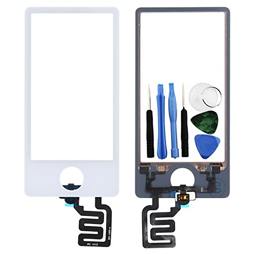 BisLinks® Weiß LCD Touch Bildschirm Digitizer Assembly Ersatz Für iPod Nano 7 7th Gen -
