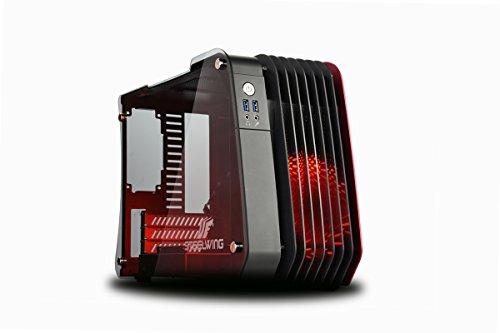 Enermax steelwing ecb2010r micro-tower Nero, Rosso-Scatola di PC, micro-tower,, Alluminio, Vetro Temperato, Micro-ATX, Mini-ITX, ventole della scatola, rosso)