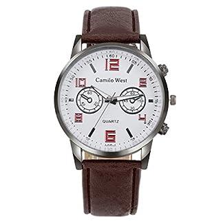 Armbanduhr-herren-Liusdh-Uhren-Legierung-zifferblatt-quarz-matt-runde-zifferblatt-uhr-retro-leader-band-uhr