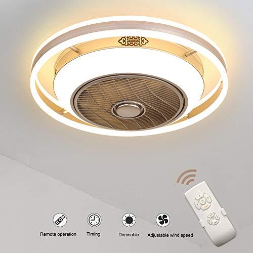Deckenventilatoren mit Beleuchtung, 36W Creative Invisible Fan LED Deckenleuchte Fernbedienung Dimmbar Ultra-leiser Lüfter Kronleuchter Wohnzimmer Schlafzimmer Kinderzimmer Deckenventilator Lampe -