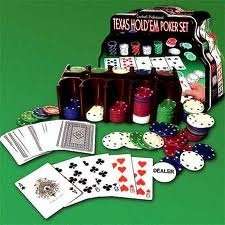 Texas Hold 'em Poker-SET mit 7,2g Poker Chips