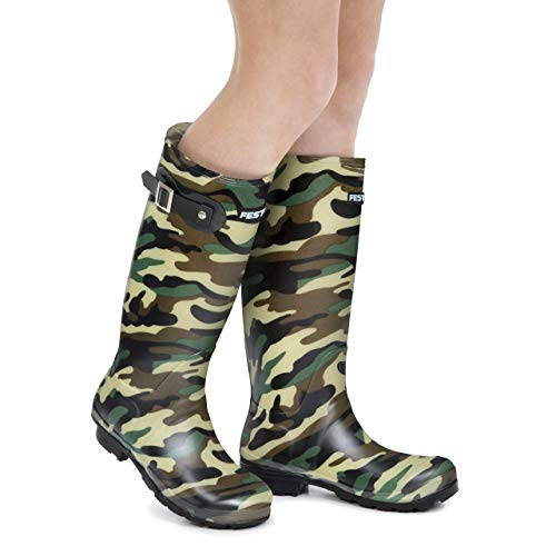 Festival Ladies Womens Tall Wellington Boots