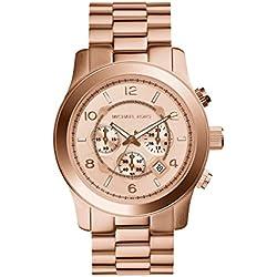 Michael Kors MK8096 - Reloj de caballero de cuarzo, correa de acero inoxidable color oro