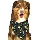 Pet Bandana Dabbing Skeleton Funny Washable and Adjustable Triangle Bibs for Pet Cats and Puppies