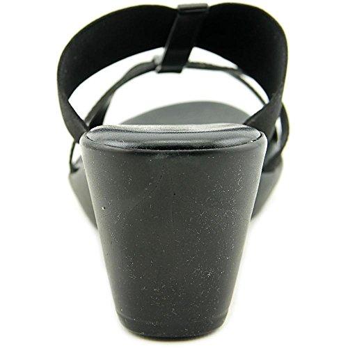 Easy Street Ascea Femmes Synthétique Sandales Compensés Black Gore
