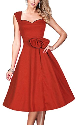 Ruiyige -  Vestito  - Donna Red (50s 60s Dress)
