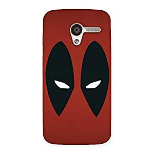 Enticing Red Dead Black Eye Back Case Cover for Moto X