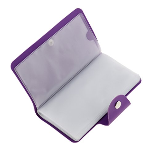 Sharplace Organisateur Sac en Cuir PU à 24 Compartiments à Rangement de Stamp Stamping Nail Art DIY Holder Case - Violet