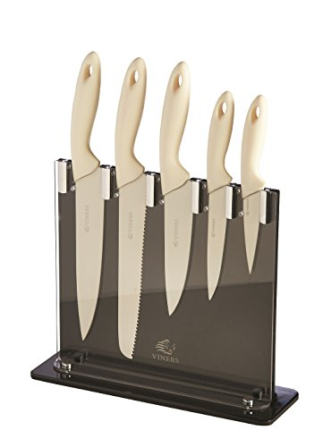 Viners Silhouette 5 Piece Knife Set In Cream with 5 Year Guarantee
