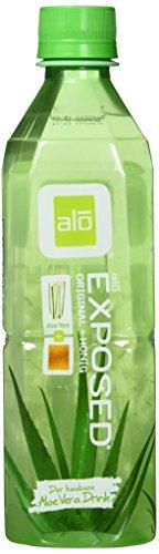 Alo Drink Exposed, Pet-Flaschen, Aloe Vera mit Honig und Aloe-Stückchen, 12er Pack, EINWEG (12 x 500 ml)