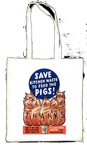Économisez de déchets de cuisine à Feed The Pigs Totebag