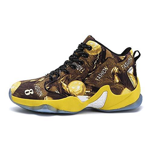 Scarpe da Basket da Uomo Leggero e Traspirante Sneakers Alte Outdoor Calzature Sportive Antiscivolo