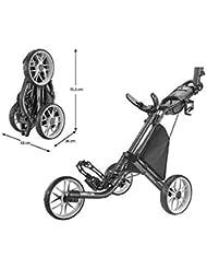 CaddyTek EZ 3-Rad Golf Push Trolley Pushtrolley Golftrolley 3-Rad