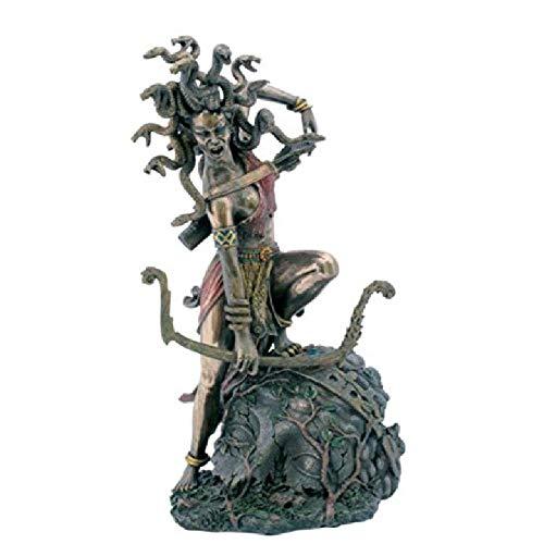ZZFGH Statue Medusa Im Kampf Mit Bogen Bronze Skulptur Figur - Moderne Bögen Sammlung